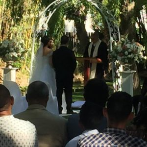 DJ Crispy Cape Town Wedding Ceremony Altar