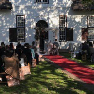 DJ Crispy Cape Town Wedding Ceremony Outside