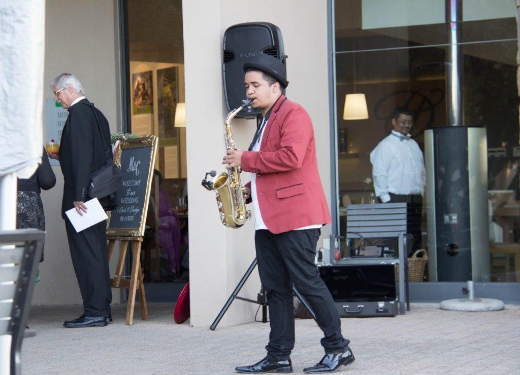 DJ Crispy Live Saxophonist 1