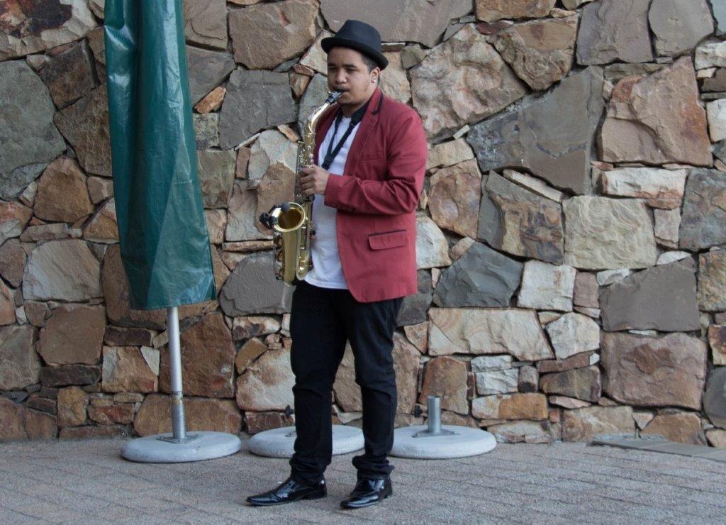 DJ Crispy Live Saxophonist 2