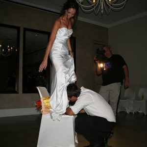 DJ Crispy Wedding Reception Garter